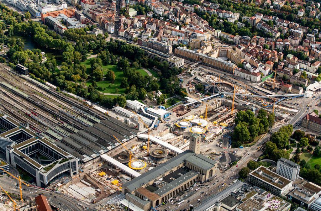 Die Bahnbaustelle in Stuttgart beschäftigt den Bundestag. Foto: Holger Leicht