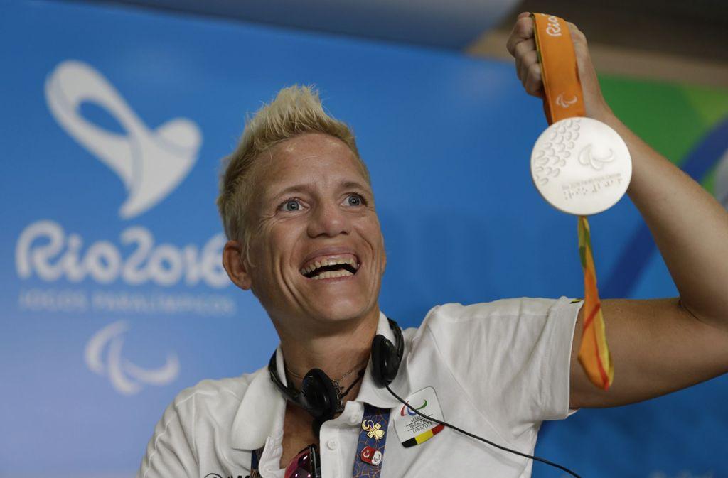 Marieke Vervoort sammelte mehrere Medaillen bei den Paralympics. Foto: AP/Leo Correa