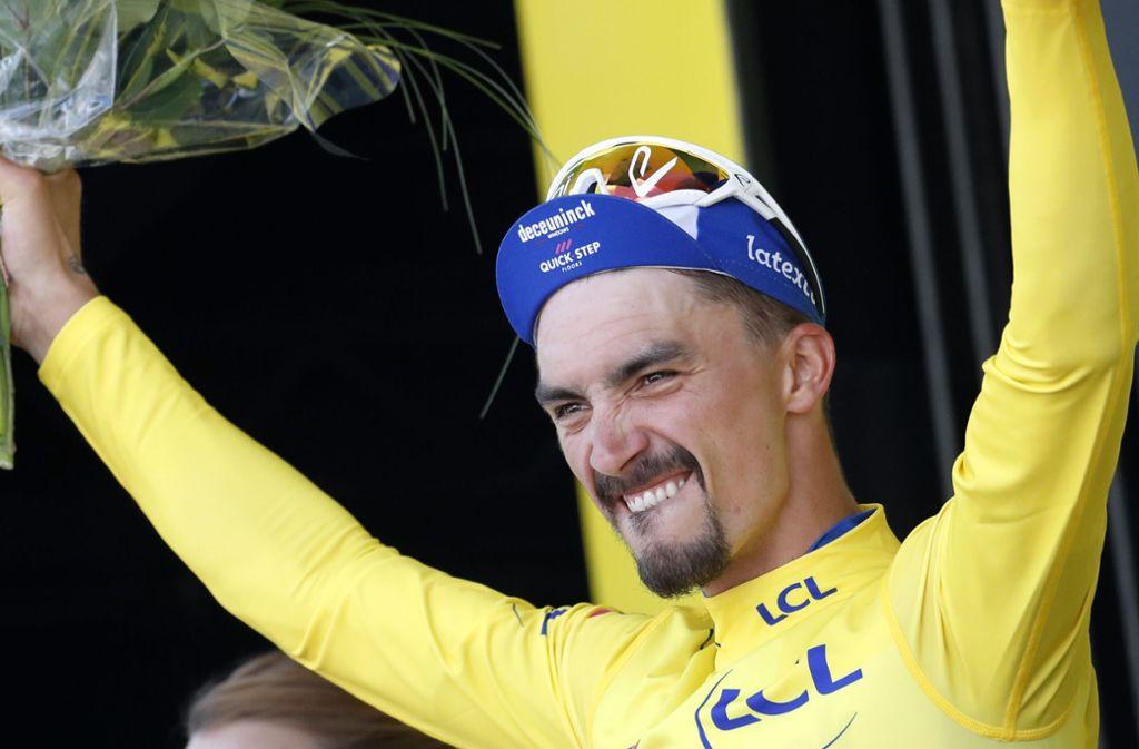 Gelb ist schön bei der Tour – auch für  Julian Alaphilippe Foto: dpa
