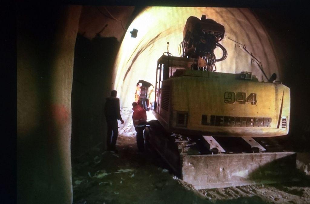 Durchschlag des zweiten Tunnels Bad Cannstatt im Oktober 2017 Foto: Andreas Rosar Fotoagentur-Stuttg