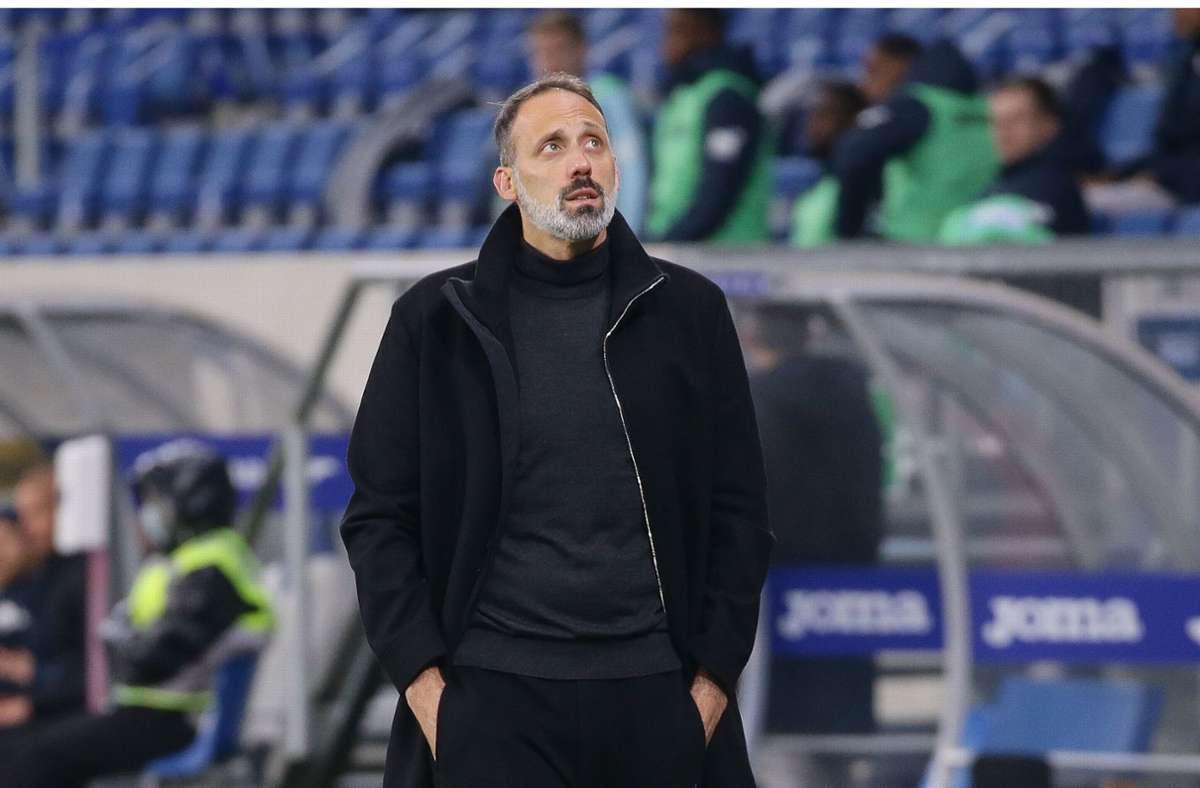 Trainer Pellegrino Matarazzo zog ein zwiegespaltenes Fazit nach der Partie. Foto: Pressefoto Baumann