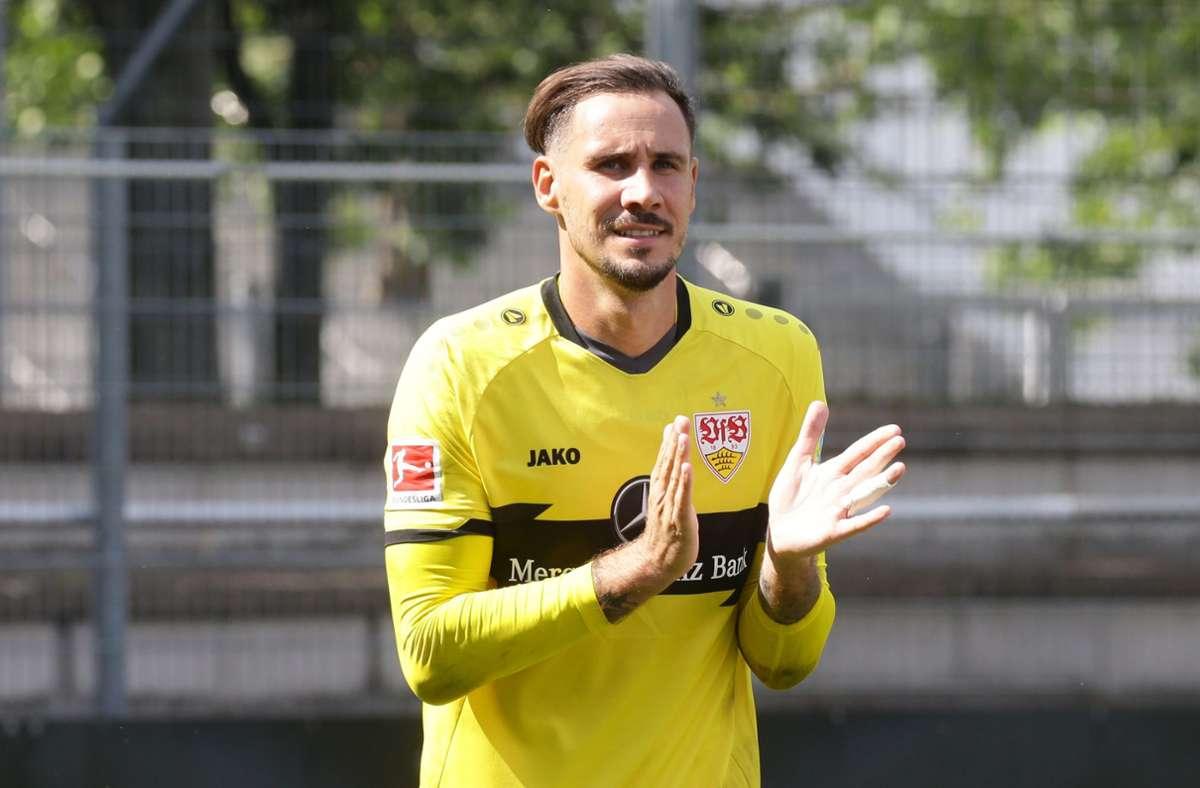 Jens Grahl verabschiedet sich  vom VfB Richtung Frankfurt. Foto: Baumann/Hansjürgen Britsch
