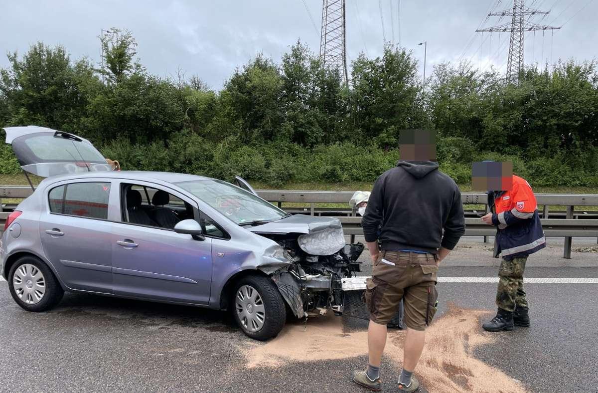 Nach dem Unfall war das Fahrzeug nicht mehr fahrtauglich. Foto: SDMG/SDMG / Maier