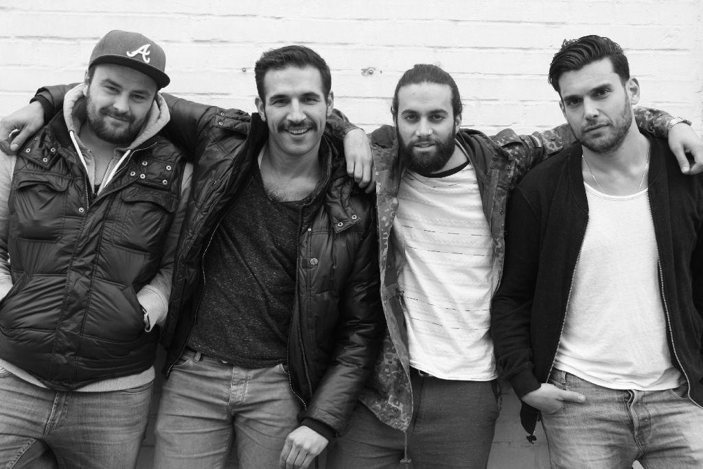Die Südklang-Posse: Marijan aka Jordi Mata, Cengiz aka Django, Melih aka Bukalemun, Christoforos aka La Maka (von links) Foto: Südklang