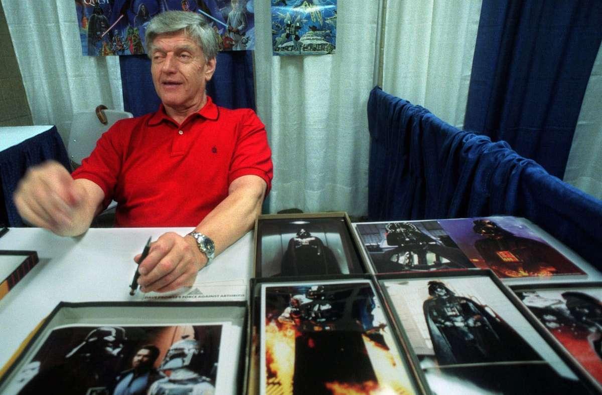 Darth-Vader-Darsteller Dave Prowse ist im Alter von 85 Jahren gestorben. Foto: AP/Lynsey Addario