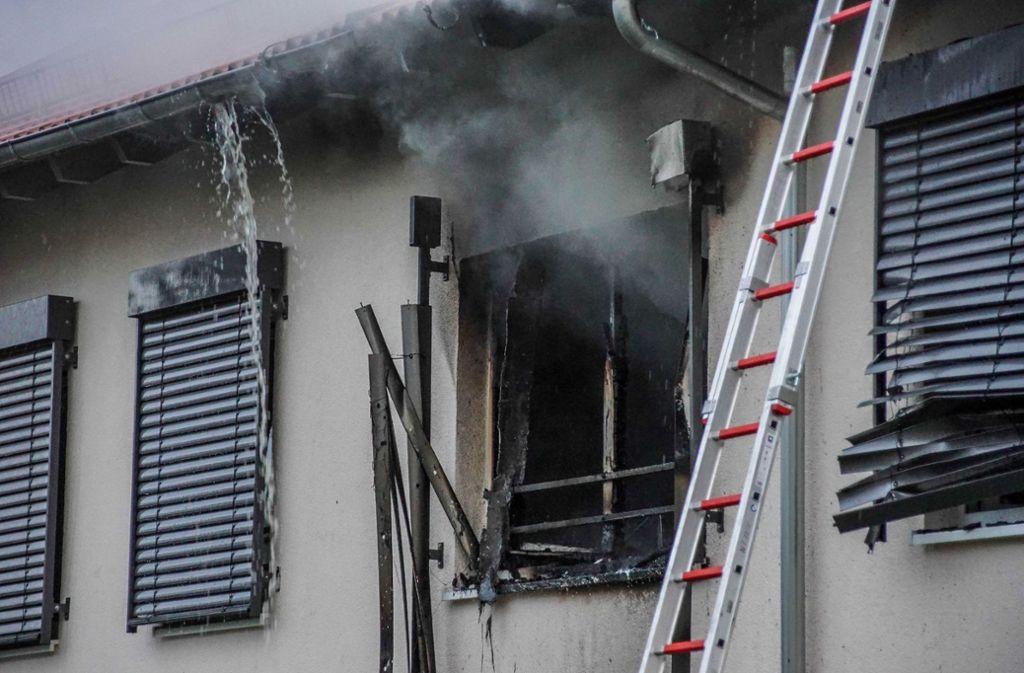 Bei dem Brand in einem Seniorenheim in Frickenhausen (Landkreis Esslingen) ... Foto: SDMG
