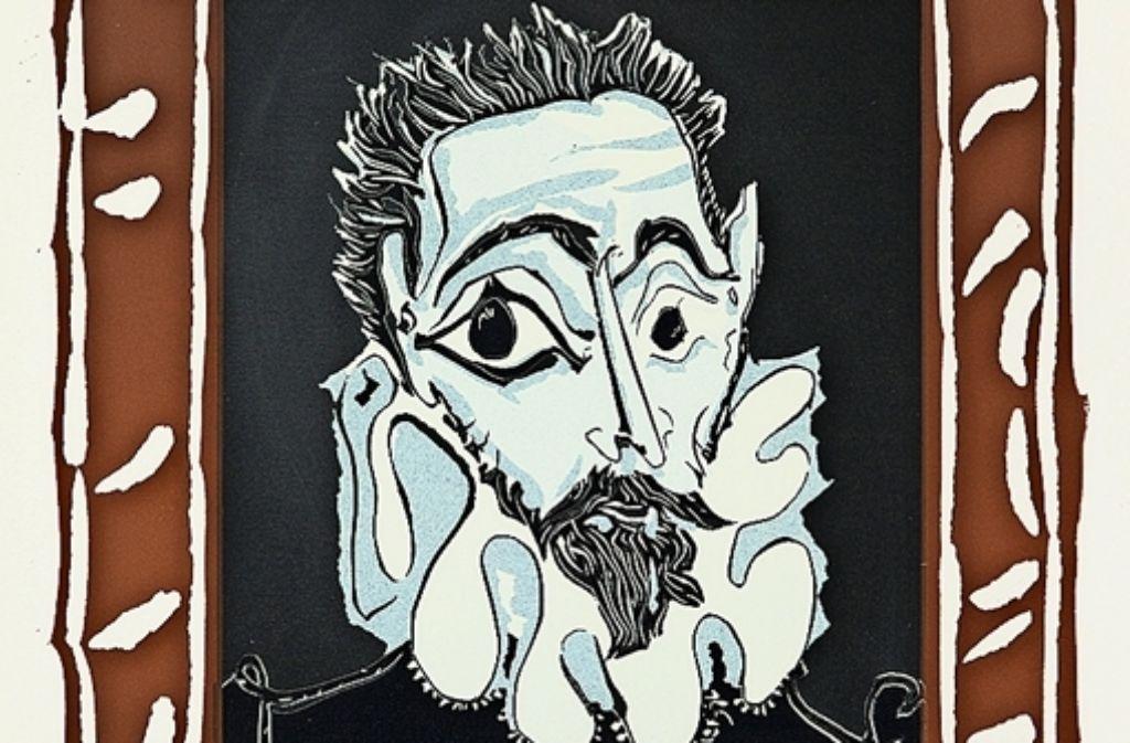 """Pablo Picassos Variation von El Grecos """"Porträt eines Mannes  mit Halskrause"""". Foto: Succession Picasso/VG Bild-Kunst, Bonn 2015"""