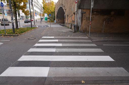 Warum ein Stuttgarter Zebrastreifen wie ein Balkendiagramm aussieht