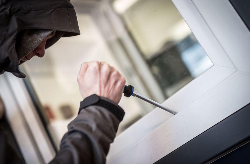 Die Einbrecher kamen meist über Fenster in die Gebäude. Foto: dpa/Frank Rumpenhorst