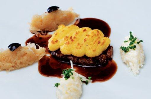 Kalbsbries mit Kartoffel-Mousseline überbacken
