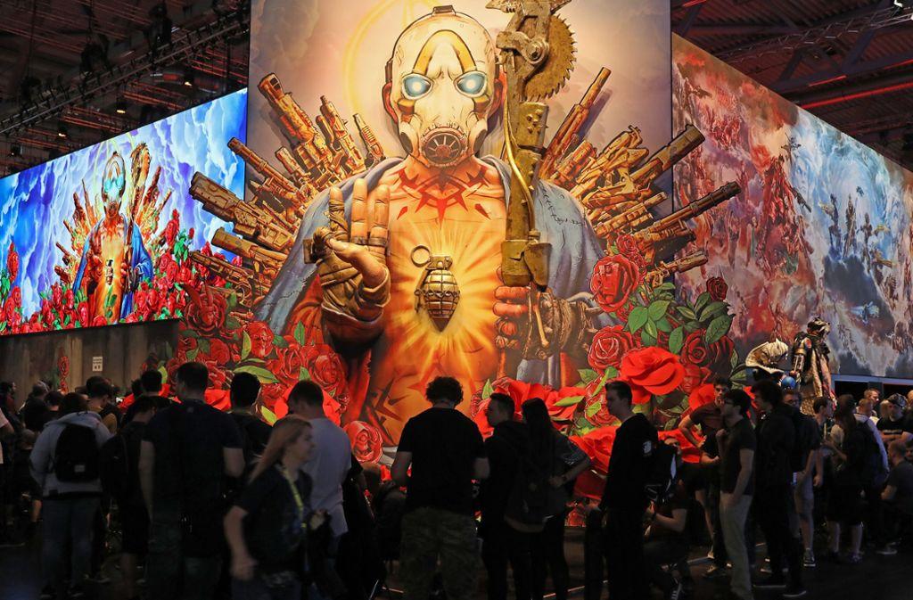 Die Hallen sind endlich für Besucher geöffnet: Tausende Besucher bei der Gamescom erwartet. Foto: dpa