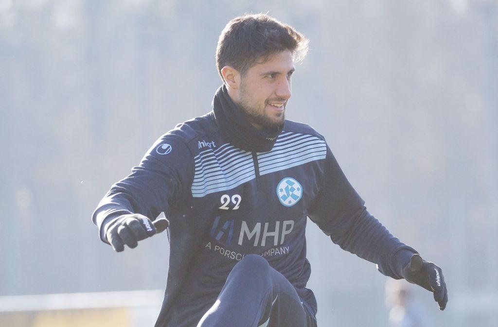 Will mit den Stuttgarter Kickers den Aufstieg: der Spanier Pedro Astray. Foto: Baumann