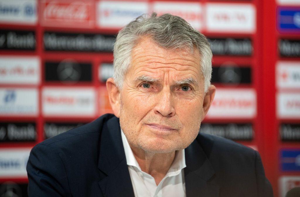 Der ehemalige Präsident des VfB Stuttgart, Wolfgang Dietrich. (Archivbild) Foto: picture alliance/dpa/Sebastian Gollnow