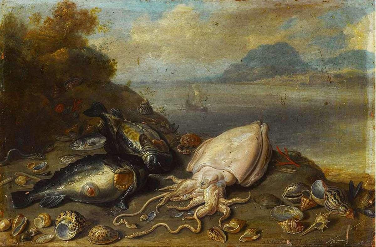 """Wieder da: Jan van Kessels """"Fische und Muscheln am Strand"""" (1660) Foto: Staatsgalerie Stuttgart"""