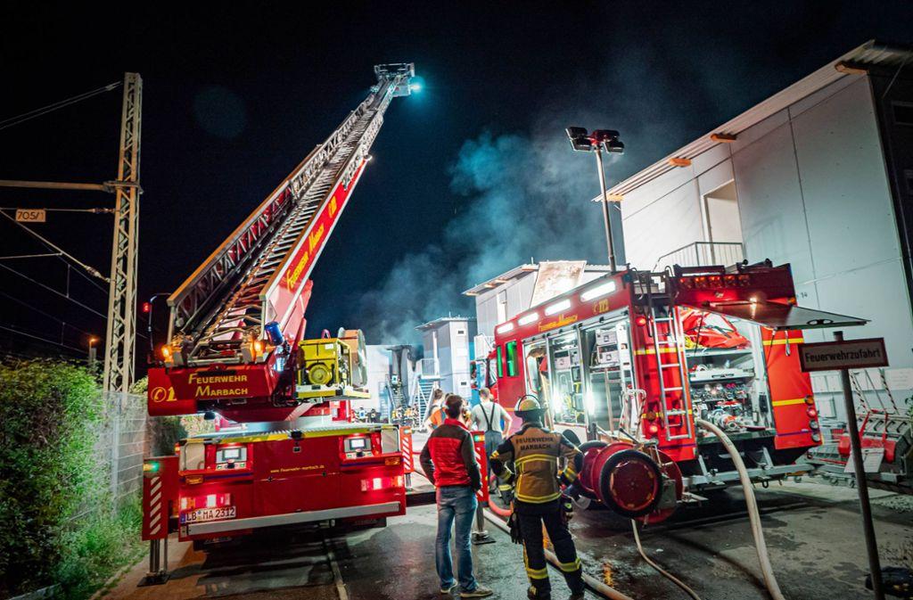 Das Feuer in Marbach brach am frühen Donnerstagmorgen aus. Foto: