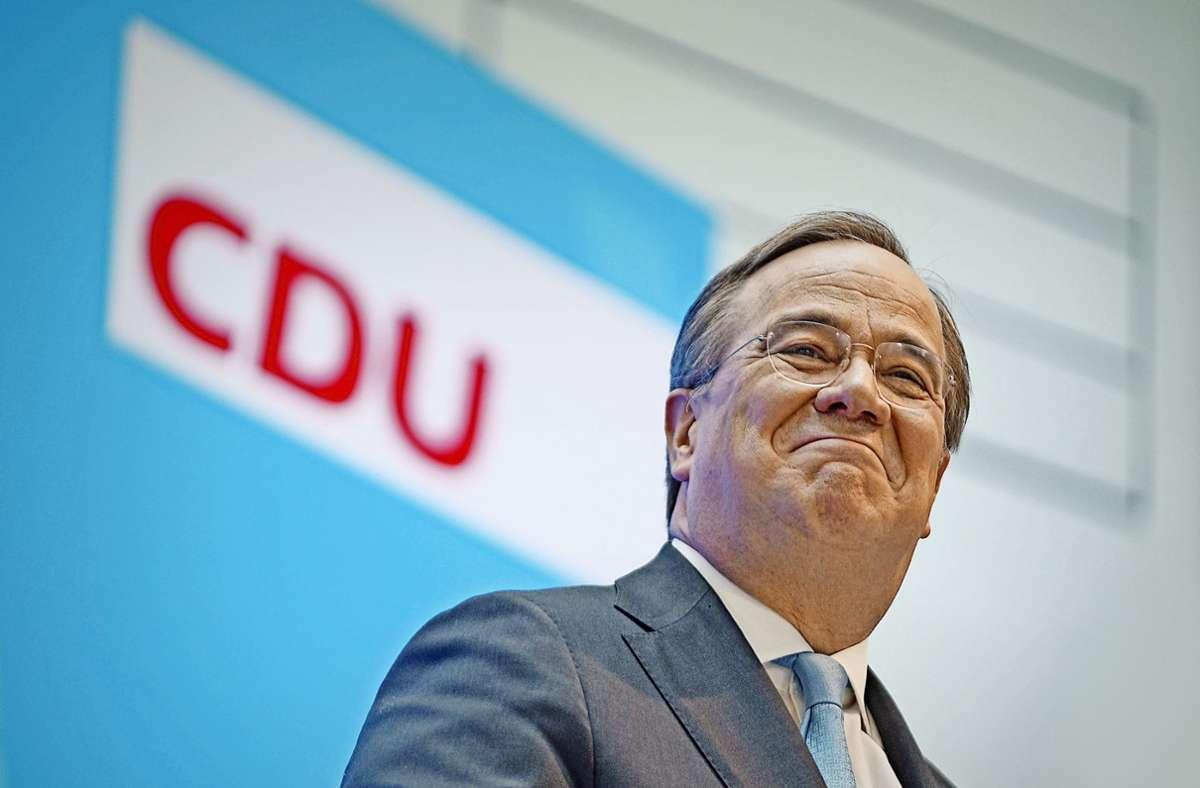 Der Kanzlerkandidat Armin Laschet hat begonnen, die tiefen Gräben in der Union zuzuschütten. Foto: dpa/Michael Kappeler