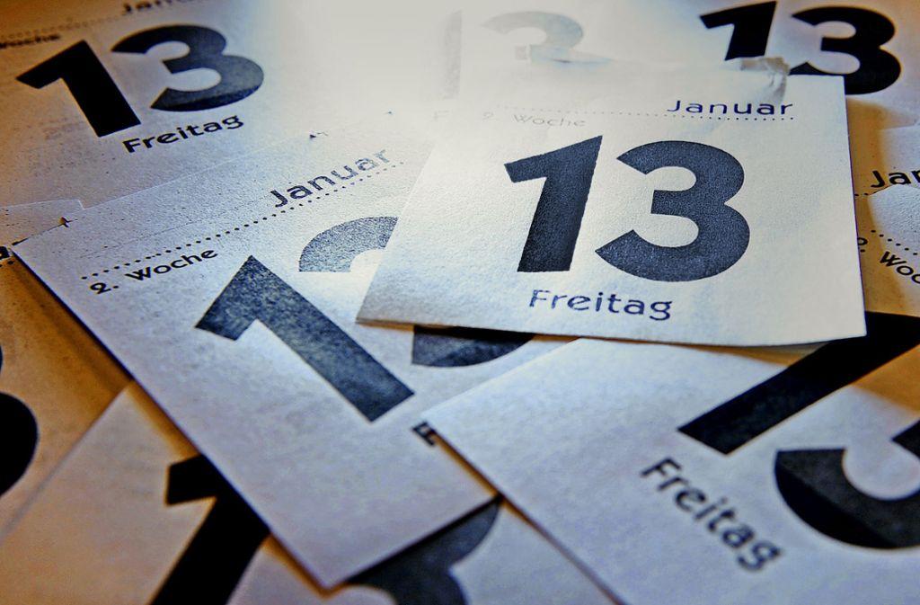 Die 13 auf diesen Kalenderblättern ist nur eine von sehr vielen Primzahlen. Foto: dpa