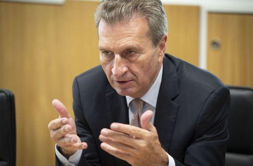 Oettinger im Gespräch mit dem VDA
