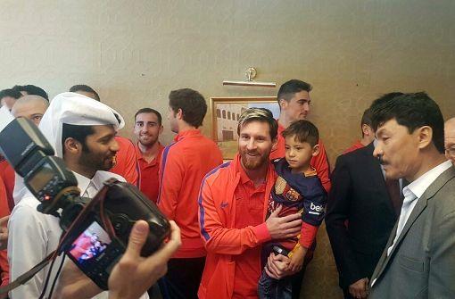 """Messi trifft seinen """"Plastiktüten""""-Fan aus Afghanistan"""
