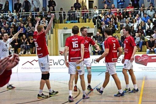 Die Volleyballer des SV Fellbach streben am Samstag den 20. Saisonsieg an – und den neuerlichen Zweitliga-Titel. Foto: Patricia Sigerist