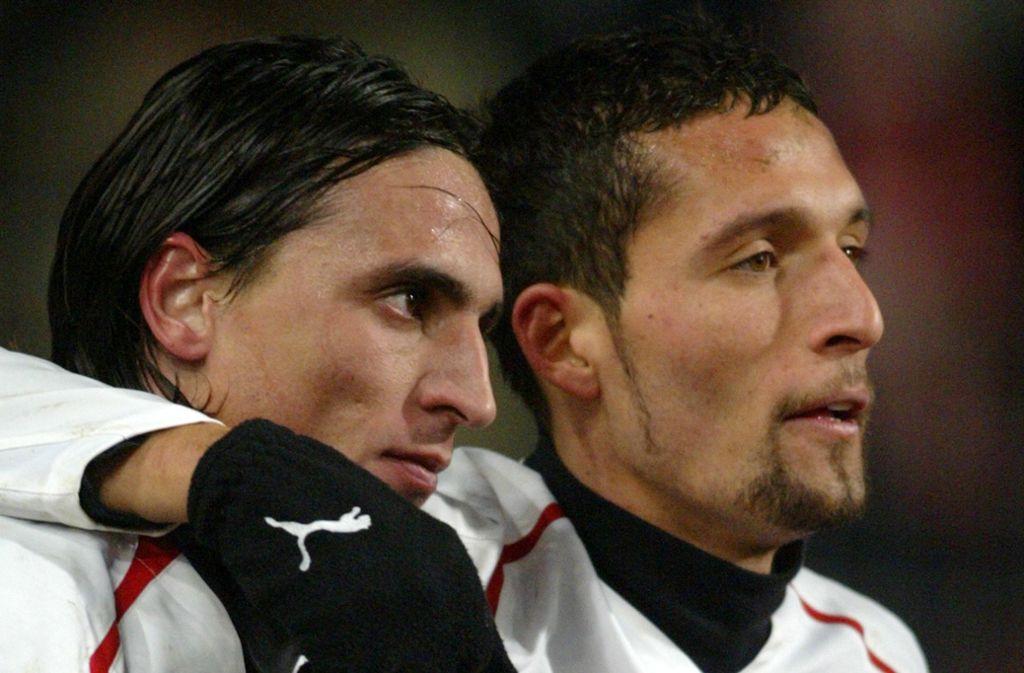 Ein Interview von Kevin Kuranyi (rechts) aus dem Frühjahr 2005 kennen wohl fast alle VfB-Fans. Fernando Meira (links) sorgte ebenfalls für ein VfB-Kuriosum. Foto: AP