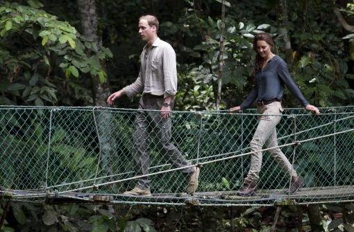 Kate & William stehen im Regen(wald)
