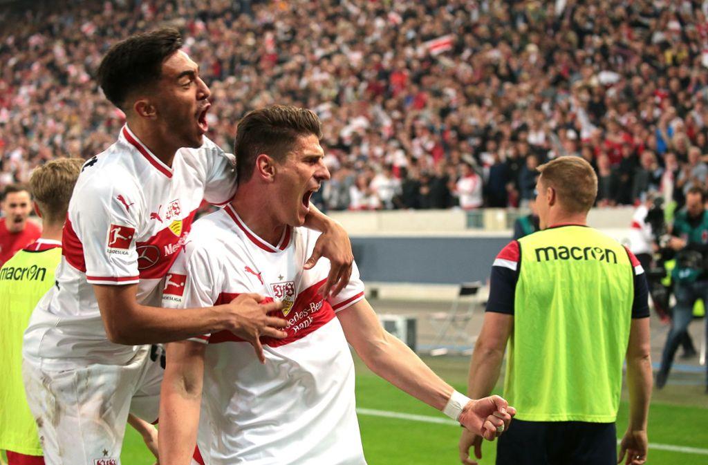 Mario Gomez sorgte im Relegations-Hinspiel für die zwischenzeitliche 2:1-Führung. Foto: Pressefoto Baumann