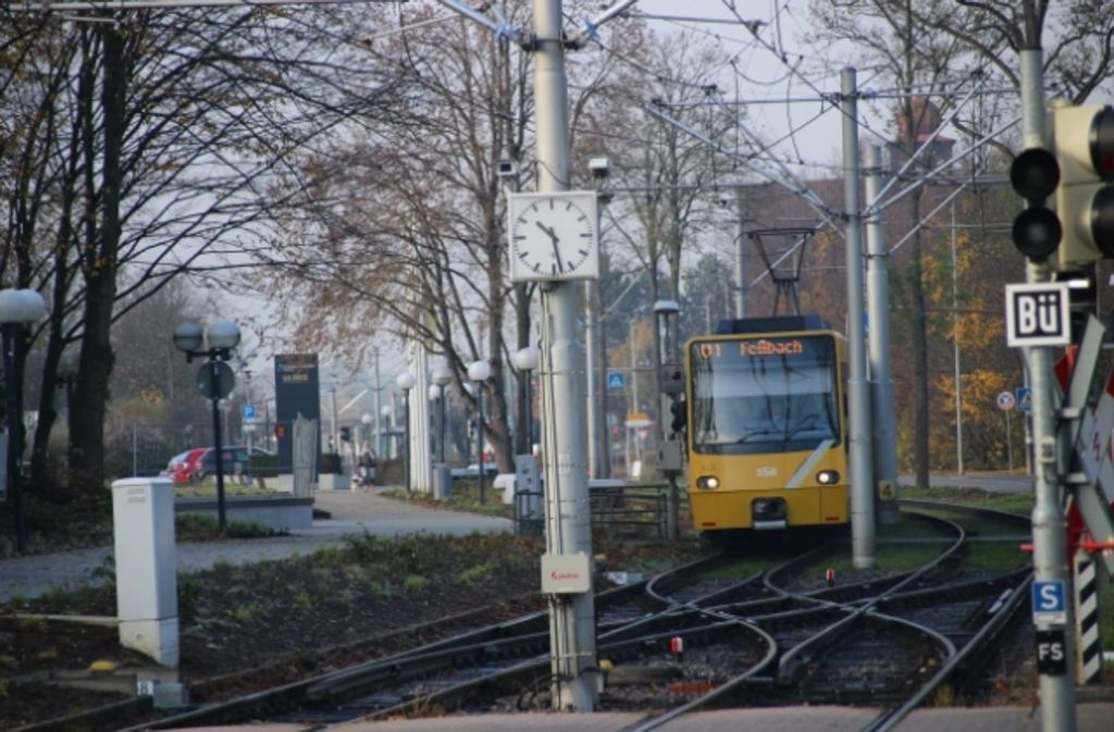 1986 löste die Stadtbahn die Straßenbahn in Fellbach ab. Foto: Sarah Utz