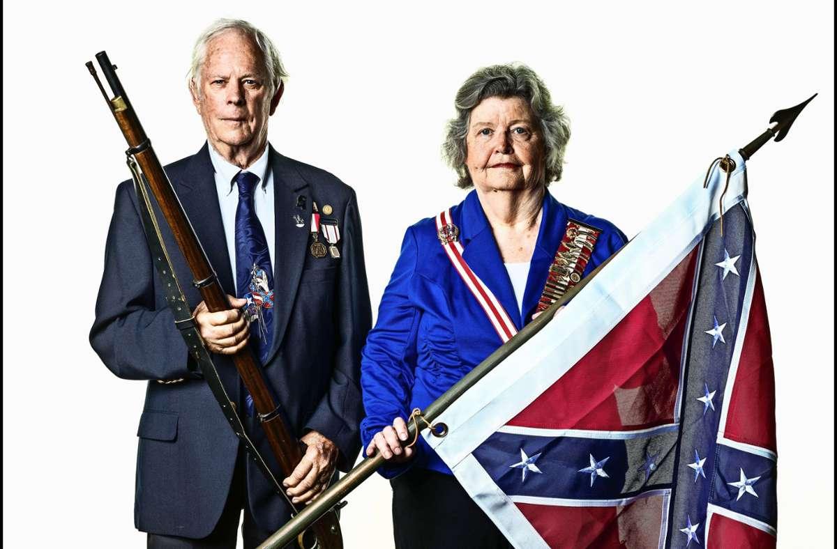 """Franklin L. und Frances K. Woodruff aus Mississippi: """"Wir sollten ein vereintes Land sein."""" Foto: Mathias Braschler & Monika Fischer"""