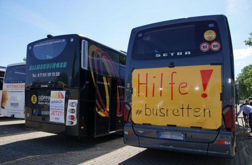 Busunternehmen kämpfen darum, fahren zu dürfen
