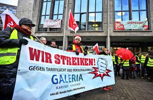 Kaufhof-Belegschaft streikt