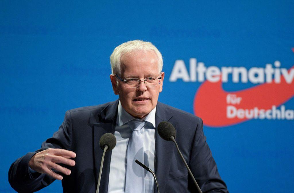 Der stellvertretende Fraktionsvorsitzende der Landtags-AfD Emil Sänze glaubt, seine Partei könne in Baden-Württemberg 20 Prozent Stimmenanteil erreichen. (Archivbild) Foto: dpa/Stefan Puchner