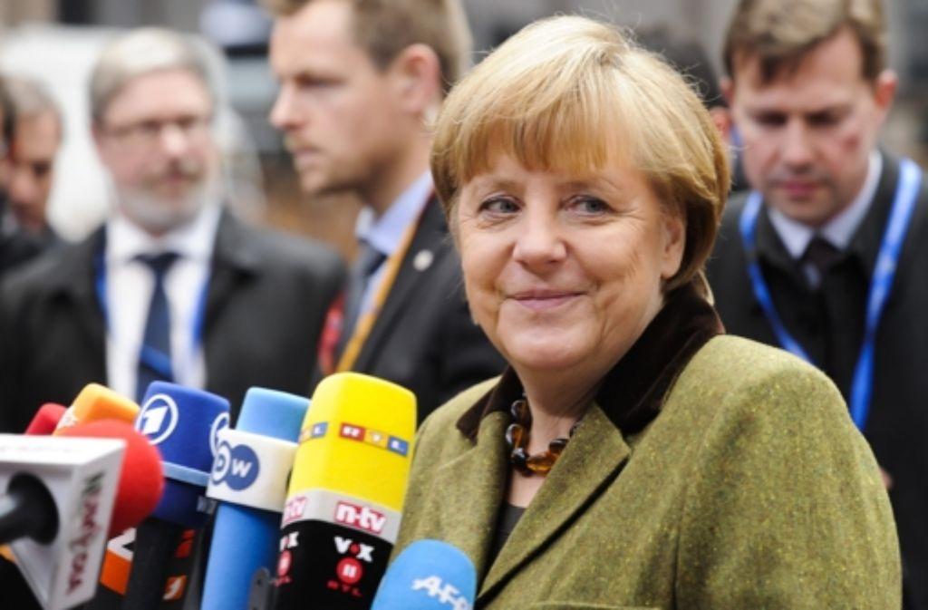 Auf Angela Merkel lastet in Brüssel alle Aufmerksamkeit. Foto: dpa