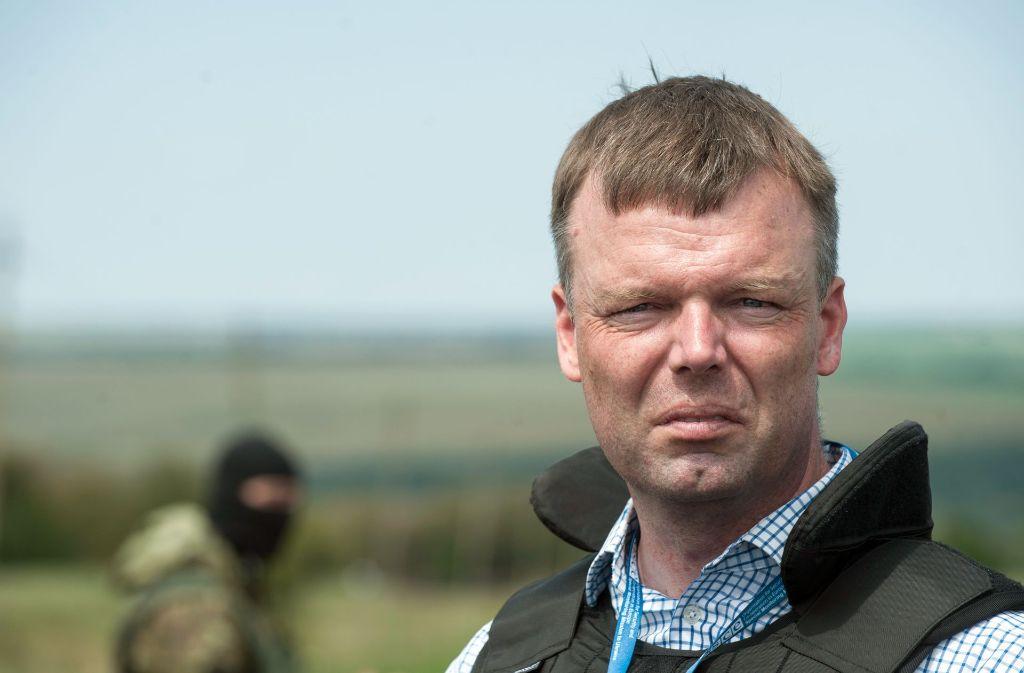 Alexander Hug in der Ukraine. Foto: OSZE