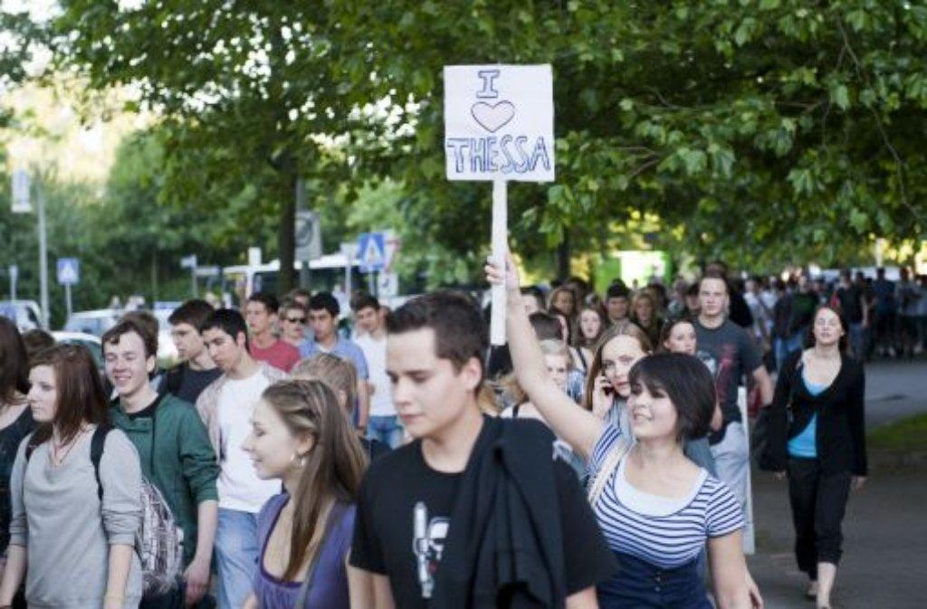 Vorbild der Göppinger Aktion: Thessas Party in Hamburg. Foto: dapd
