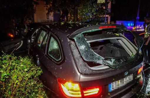 Betrunkener rammt Bäume und Straßenlaterne mit Auto