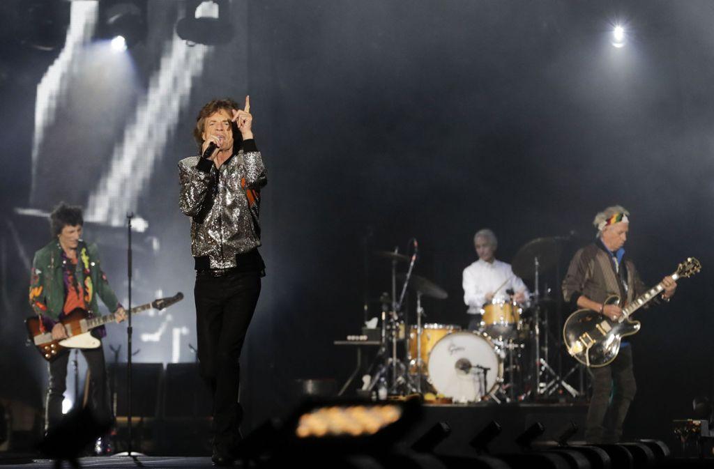 Die Rolling Stones beehren das Stuttgarter Stadion am 30. Juni Foto: AP