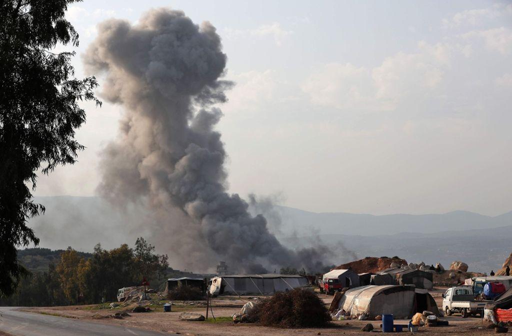 In Idlib brodelt es. Eskaliert der Konflikt dort, droht Flüchtlingen eine ausweglose Situation. Foto: AFP
