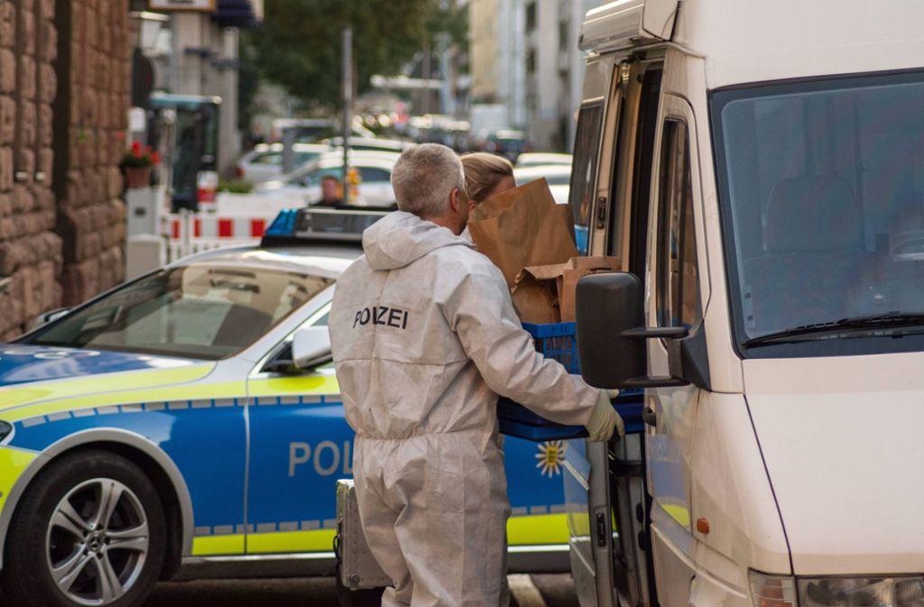 Spurensicherung am Tatort Stöckachstraße Foto: 7aktuell.de/Sven Franz