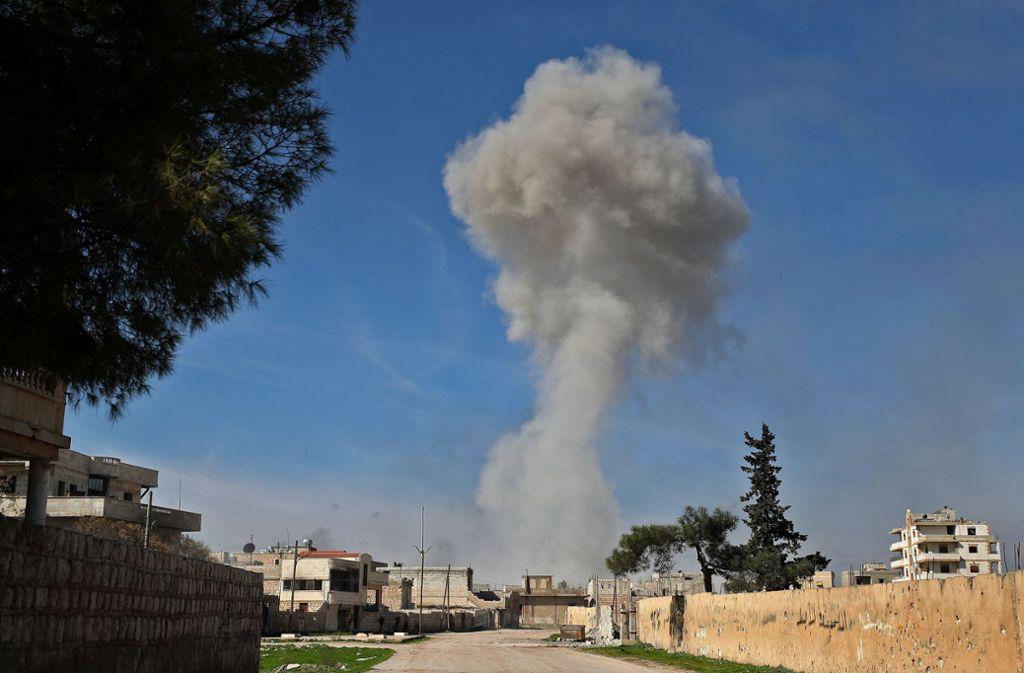 Bei Luftangriffen auf Idlib wurden 33 türkische Soldaten getötet. Foto: AFP/OMAR HAJ KADOUR
