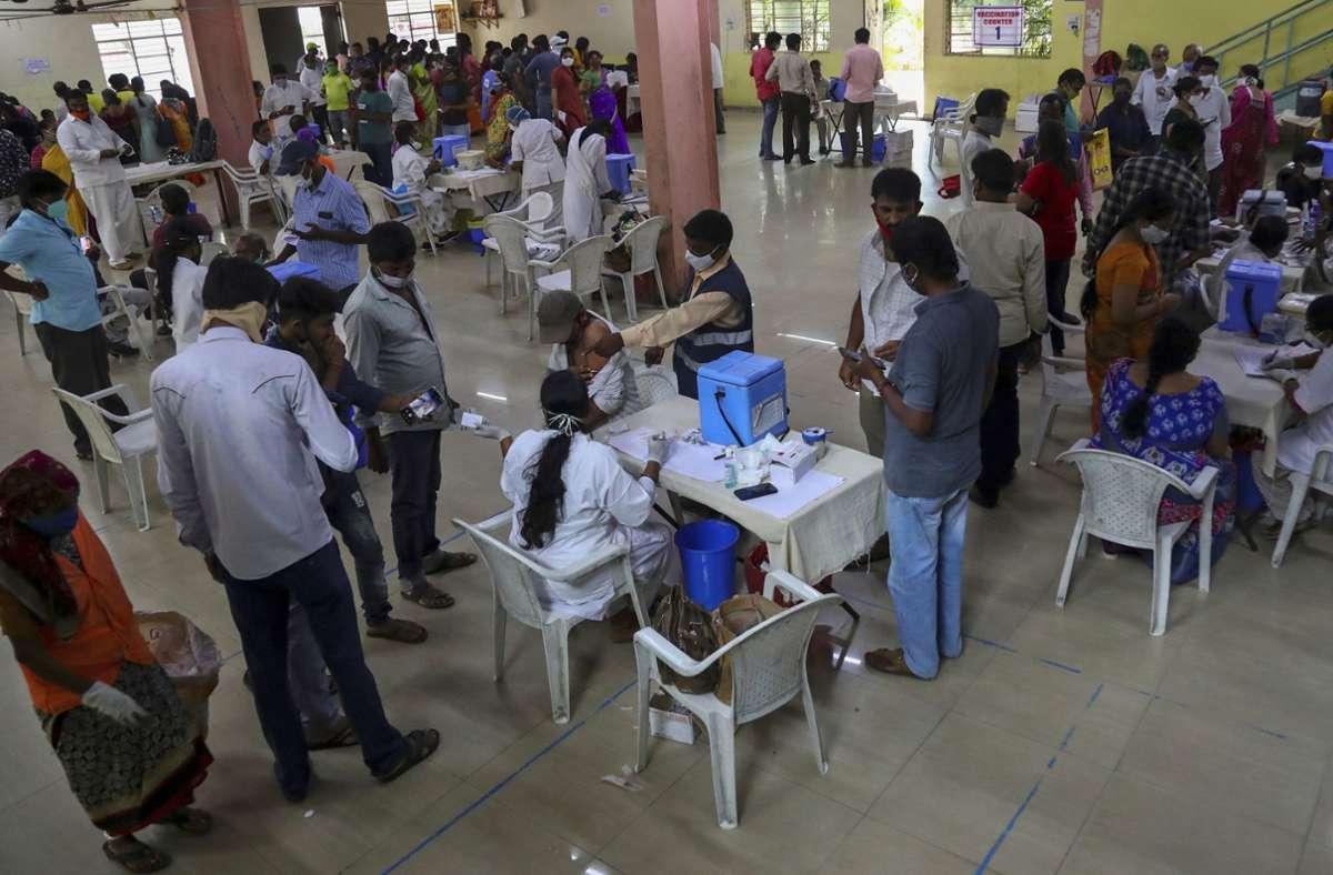 In Indien wird im großen Stil geimpft. Foto: dpa/Mahesh Kumar A