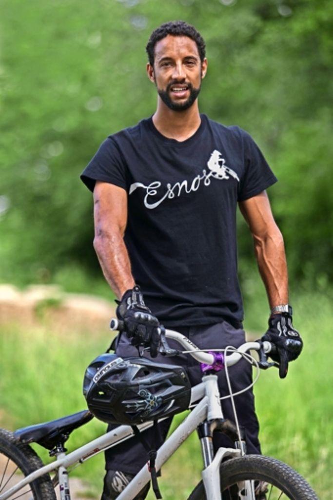 Johannes Reiser ist mit Leib und Seele Mountainbiker. Sich für die Szene zu engagieren und ihr zu einer neuen Strecke zu verhelfen,  ist ihm ein Anliegen. Foto: Ines Rudel