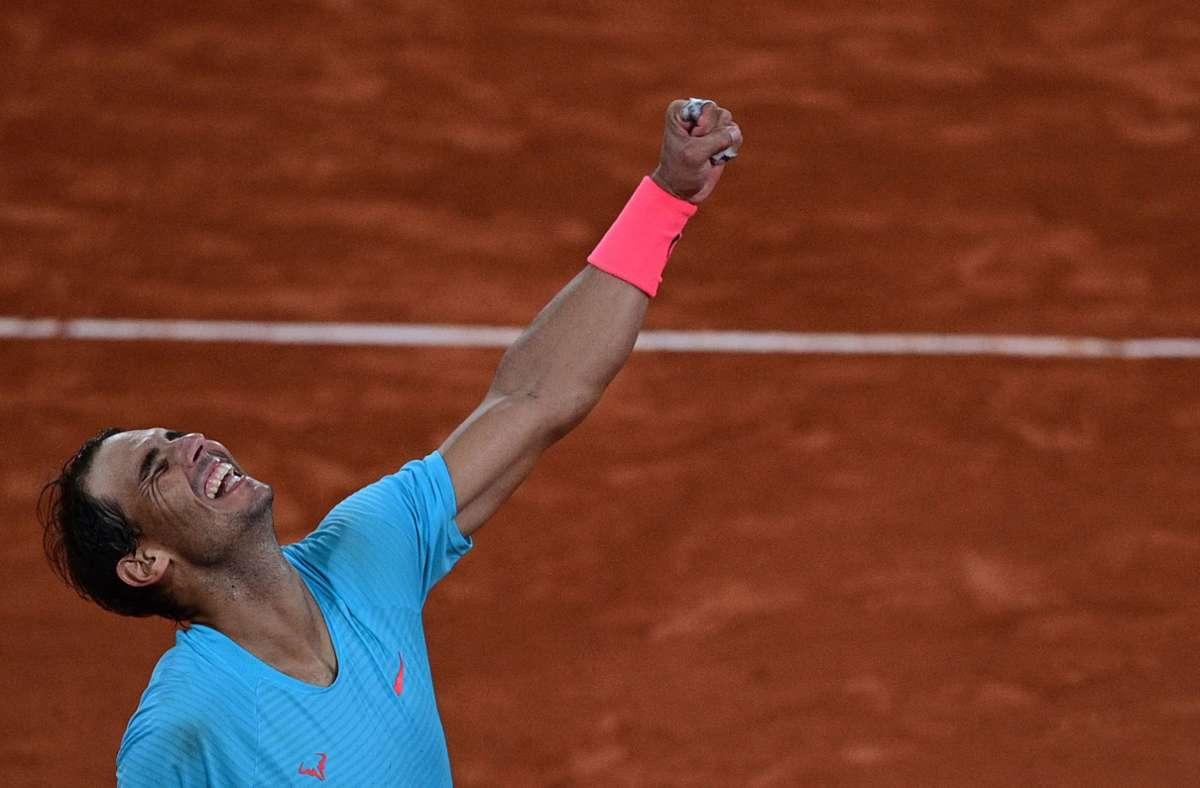 Rafael Nadal gewinnt zum 13. Mal die French Open. Foto: AFP/MARTIN BUREAU