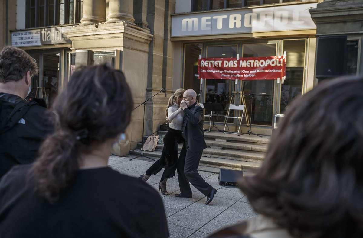 Tanz für den Erhalt des Metropol. Foto: Lichtgut/Julian Rettig
