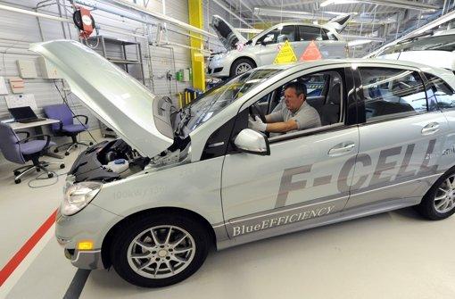 Daimler hält an der Brennstoffzelle fest; 2018 kommt ein Serienmodell auf den Markt. Foto: dpa