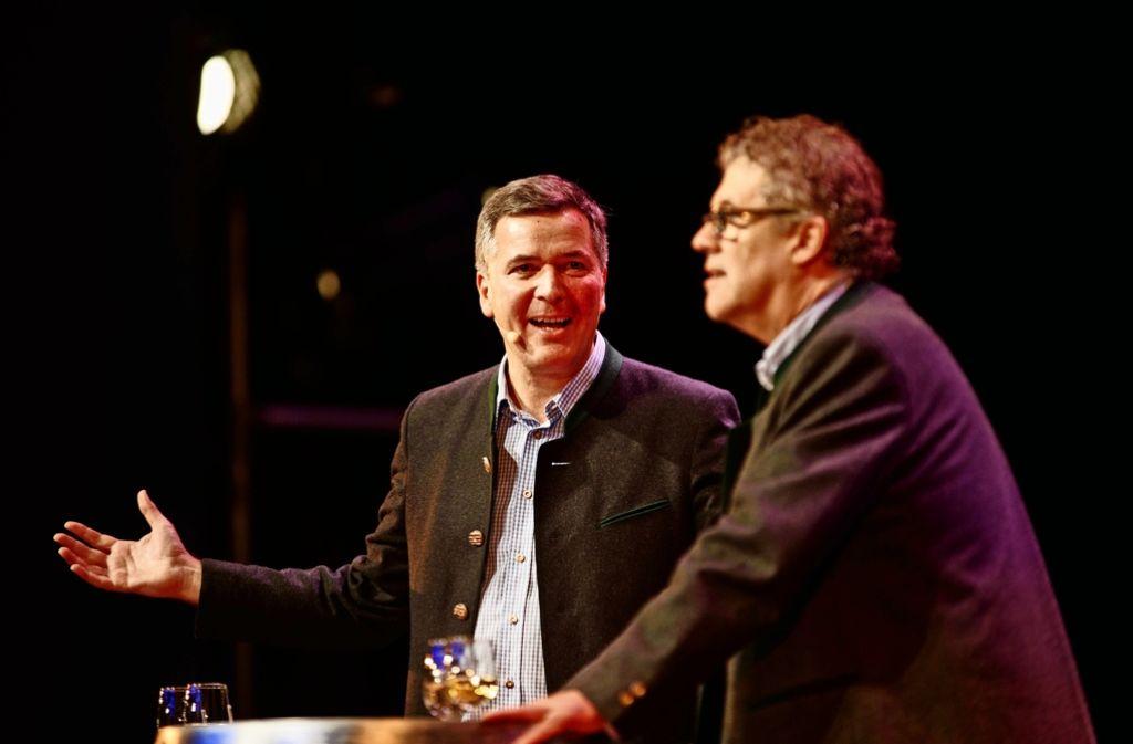 Das kongeniale Weinduo Christoph Palm (links) und Klaus Birk. Foto: Gottfried Stoppel