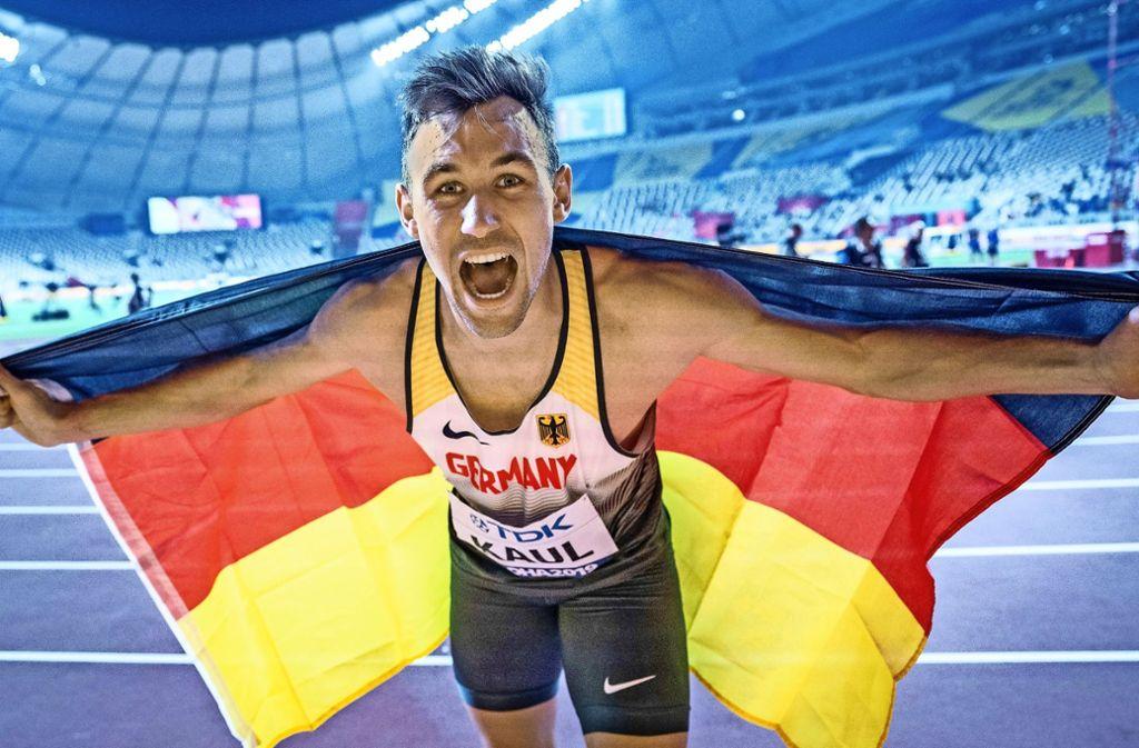 Zehnkampf-Weltmeister Niklas Kaul setzt auf eine duale Karriere. Foto: dpa/Michael Kappeler