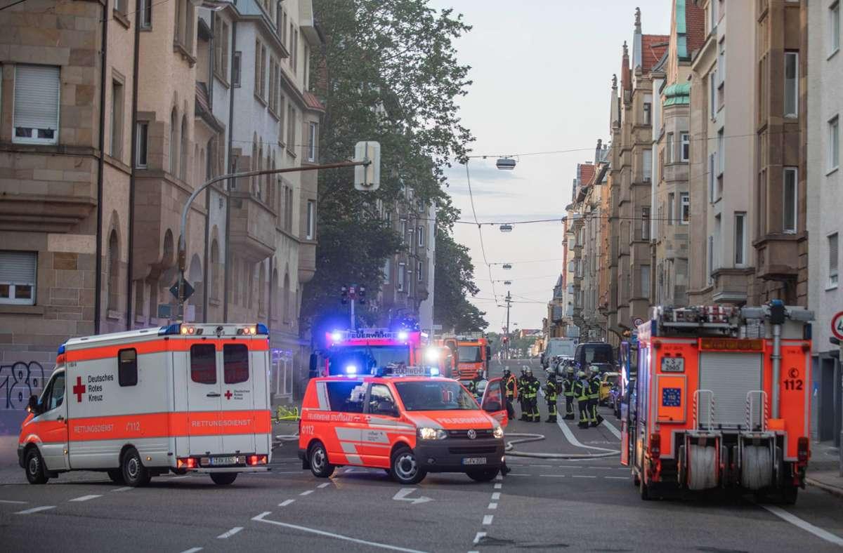 Die Feuerwehr musste zu einem Kellerbrand in der Olgastraße ausrücken. Foto: 7aktuell.de/Simon Adomat/7aktuell.de