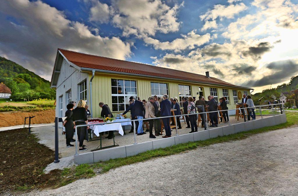 Am Eingang des neuen Museumsgebäudes hat es einen kulinarischen Vorgeschmack auf das Innenleben gegeben. Foto: Ines Rudel