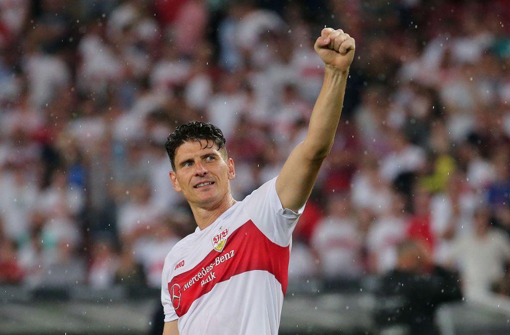 VfB-Stürmer Mario Gomez hat das Toreschießen nicht verlernt. Foto: Baumann